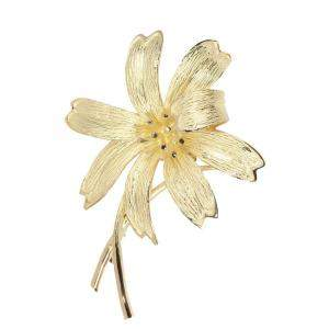 Tiffany & Co. 18K Yellow Gold Diamond Lily Brooch