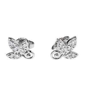 Tiffany & Co. Paloma Picasso® Olive Leaf Diamond 18K White Gold Stud Earrings