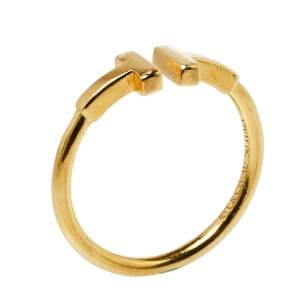 Tiffany & Co. Tiffany T Wire 18K Yellow Gold Ring Size 56