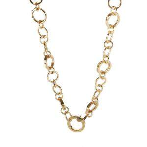 Tiffany & Co. 18K Yellow Gold Circle Link Chain Necklace