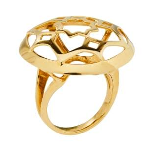 Tiffany & Co. Paloma Picasso 18K Yellow Gold Zellige Statement Ring Size 53