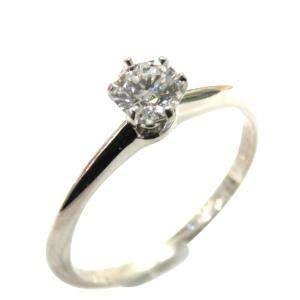 Tiffany & Co.  Solitaire Platinum Diamond Ring Size EU 47