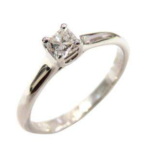 Tiffany & Co. Platinum Princess Cut Diamond Engagement Ring Size 49