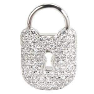 Tiffany & Co. Diamond Platinum Padlock Charm