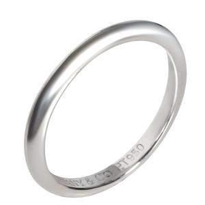 Tiffany & Co. Platinum Knife-Edge Wedding Band