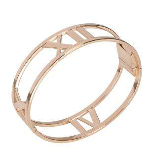 Tiffany & Co. 18K Rose Gold Open Atlas Hinged Bangle