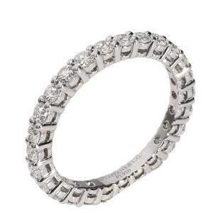 Tiffany & Co. Embrace Diamond Platinum Eternity Band Ring Size EU48