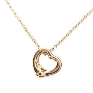Tiffany & Co. 18K Rose Gold Elsa Peretti Open Heart Pendant Necklace