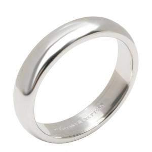 Tiffany & Co. Classic Wedding Band Platinum Ring Size EU 57