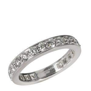 Tiffany & Co. Legacy Eternity Band Platinum Diamond Ring Size EU 51