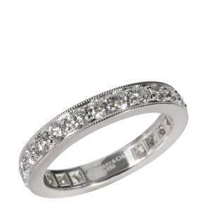 Tiffany & Co. Legacy Eternity Band Platinum Diamond Ring Size EU 51