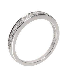 Tiffany & Co. Wedding Band Diamond Platinum Ring Size EU 51