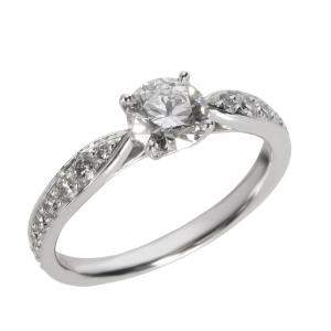 Tiffany & Co. Harmony Diamond Platinum Engagement  Ring Size EU 44