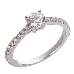 Tiffany & Co. Novo Engagement Diamond Platinum Ring Size EU 47