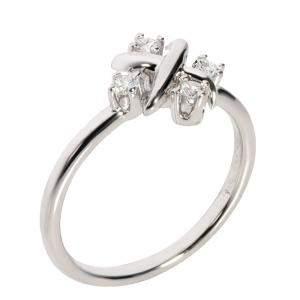 Tiffany & Co. Schlumberger Lynn Diamond Platinum Ring Size EU 56