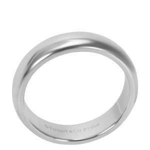 Tiffany & Co. Classic Platinum Wedding Band Ring Size EU 57
