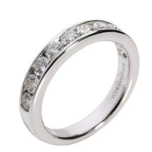 Tiffany & Co. Platinum 1.00ctw Diamond Wedding Band Ring