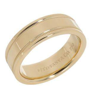Tiffany & Co. Essential 18K Yellow Gold Band Ring Size EU 52