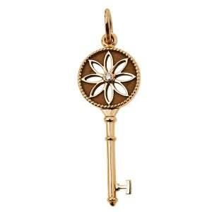 Tiffany & Co. Tiffany Keys Daisy Key Diamond 18K Rose Gold Pendant