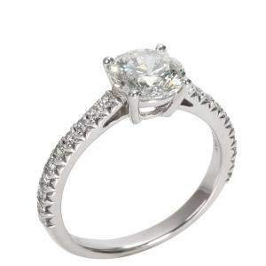 Tiffany & Co. Novo Diamond Diamond Engagement Platinum Ring Size EU 46