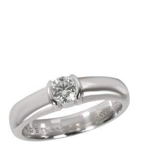 Tiffany & Co. Diamond Engagement Platinum Ring Size EU 51