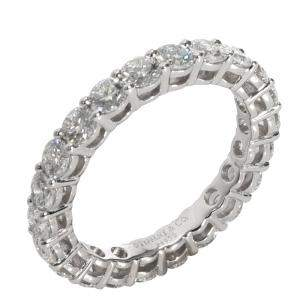Tiffany & Co. Diamond Eternity Platinum Band Ring Size EU 50.5