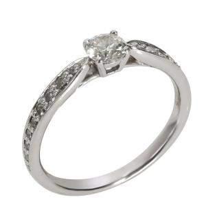 Tiffany & Co. Harmony Diamond Engagement Platinum Ring Size EU 47