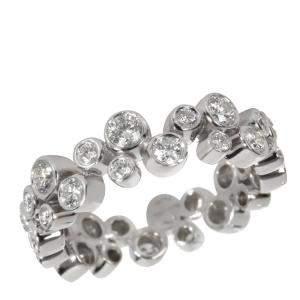 Tiffany & Co. Bubbles Diamond Eternity Platinum Band Ring Size EU 48