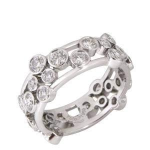 Tiffany & Co. Bubbles Diamond Platinum Ring Size EU 52