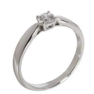 Tiffany & Co. Harmony Diamond Engagement Platinum Ring Size EU 50