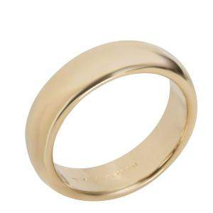 Tiffany & Co. 18K Yellow Gold Classic Wedding Band Ring Size 58.5