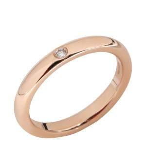 Tiffany & Co. Elsa Peretti Diamond 18K Rose Gold Band Ring Size EU 48