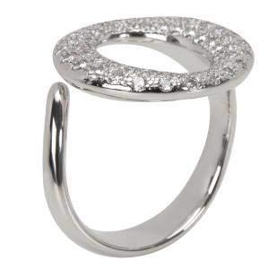 Tiffany & Co. Elsa Peretti Sevillana Diamond Platinum Ring Size EU 50.5