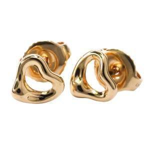 Tiffany & Co. Open Heart 18K Rose Gold Stud Earrings