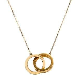 Tiffany & Co. Tiffany 1837 18K Yellow Gold Interlocking Circles Pendant Necklace