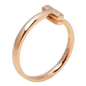 Tiffany & Co. Tiffany T T1 18K Rose Gold Ring Size EU 55