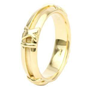 Tiffany & Co. Atlas 18K Yellow Gold Ring EU 52