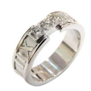 Tiffany & Co. Atlas 18K White Gold Diamond Ring EU 64
