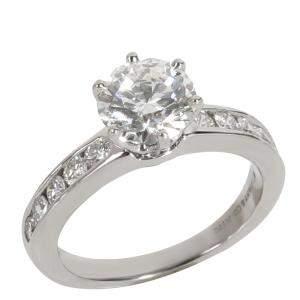 Tiffany & Co. Diamond Platinum Engagement Ring Size EU 48