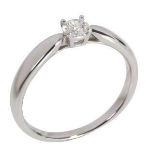 Tiffany & Co. Harmony Diamond Platinum Engagement Ring Size EU 50
