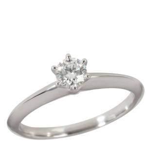 Tiffany & Co. Engagement Platinum Diamond Ring EU 50