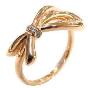 Tiffany &Co. Bow 18K Rose Gold Diamond EU 57