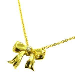 Tiffany & Co. Ribbon 18K Yellow Gold Diamond Necklace