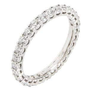 Tiffany & Co. Embrace Diamond Eternity Platinum Band Ring Size EU 49