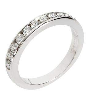Tiffany & Co. Diamond Wedding Band Platinum Ring Size EU 50
