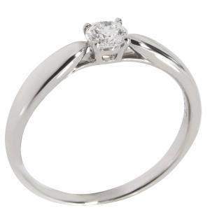Tiffany & Co. Harmony Diamond Engagement Platinum Ring Size EU 50.5