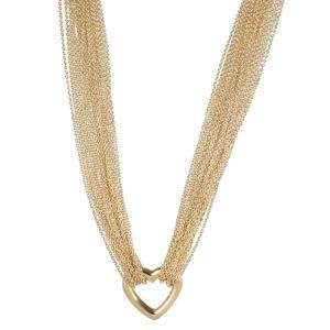 Tiffany & Co. Heart Mesh Chain Toggle 18K Yellow Gold Necklace