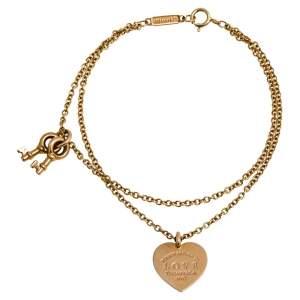 Tiffany & Co. Tiffany Key and Heart Tag 18K Rose Gold Charm Bracelet SM