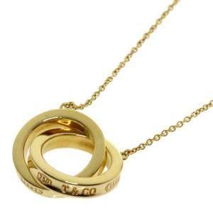 Tiffany & Co. 1837 Interlocking Circles 18K Yellow Gold Necklace