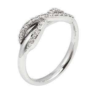 Tiffany & Co. Infinity Diamond 18K White Gold Ring Size 51